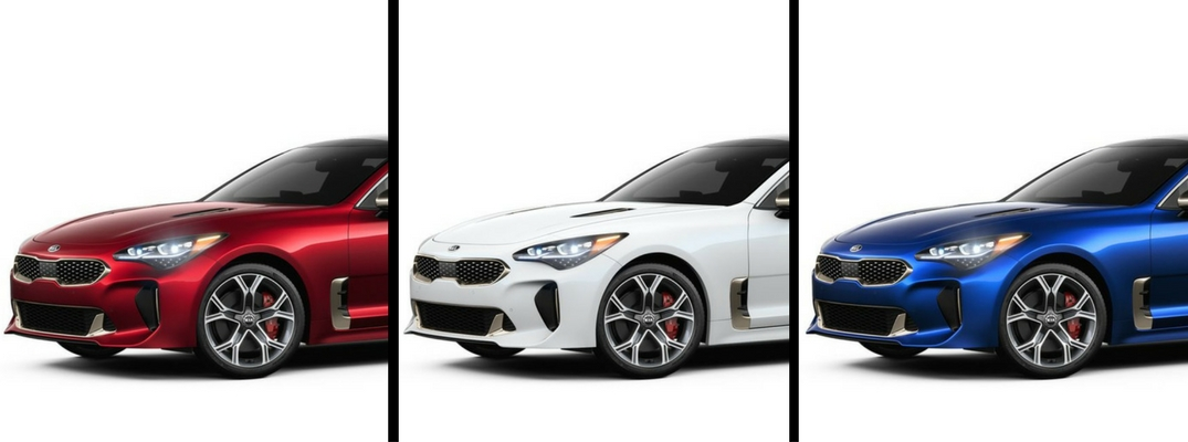2018 Kia Stinger in Red, White, and Blue Paint Colors