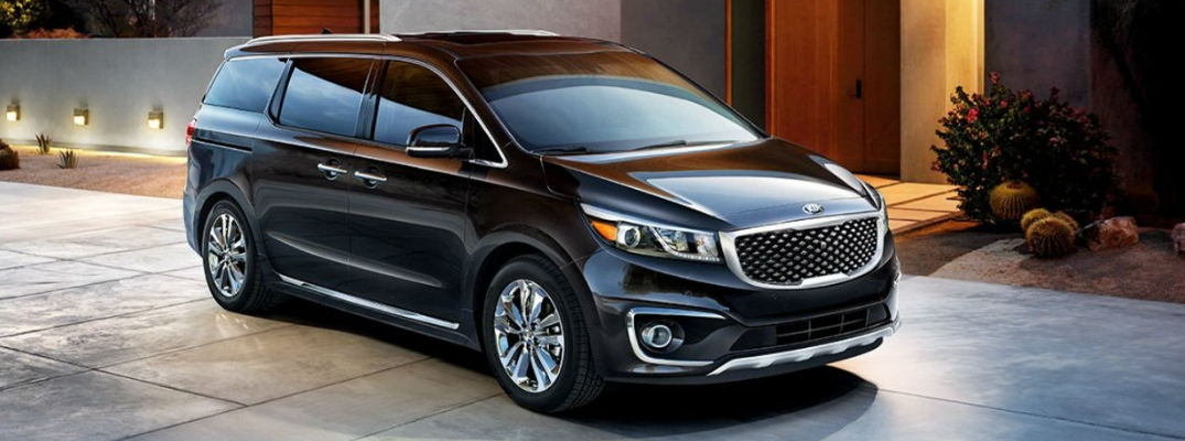 2018 Kia Sedona Diagonal View of Black Exterior