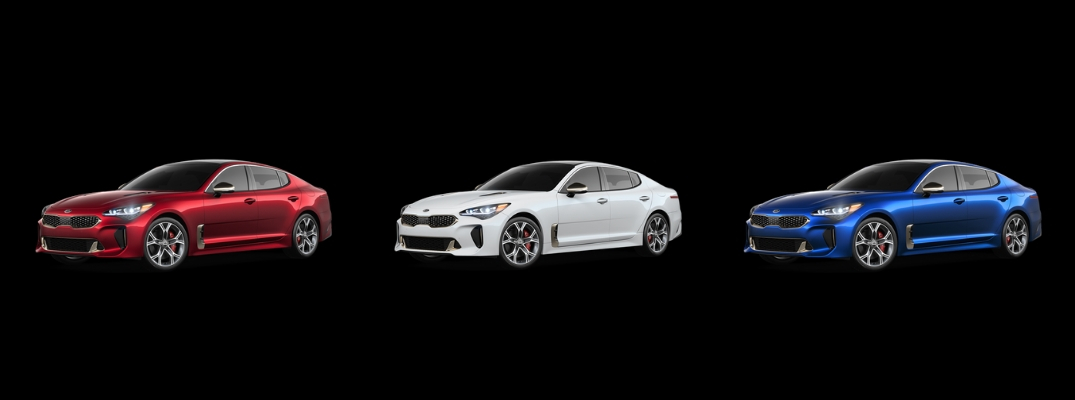 2019 Kia Stinger in Red, White, and Blue Paint Colors