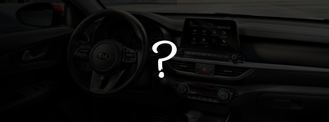 2019 Kia Forte Front Cabin Blacked Out with White Question Mark