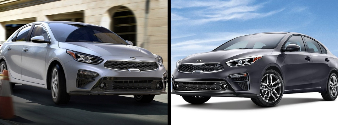 2019 Kia Forte Front View of Silky Silver and Gravity Gray Exteriors