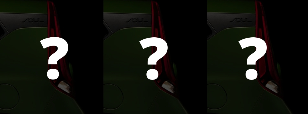2020 Kia Soul Teaser Photo Blacked Out with White Question Marks
