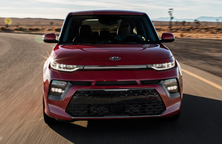 red 2020 Kia Soul exterior front