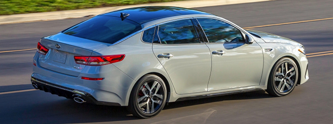 2019 Kia Optima Side View of Silver Exterior
