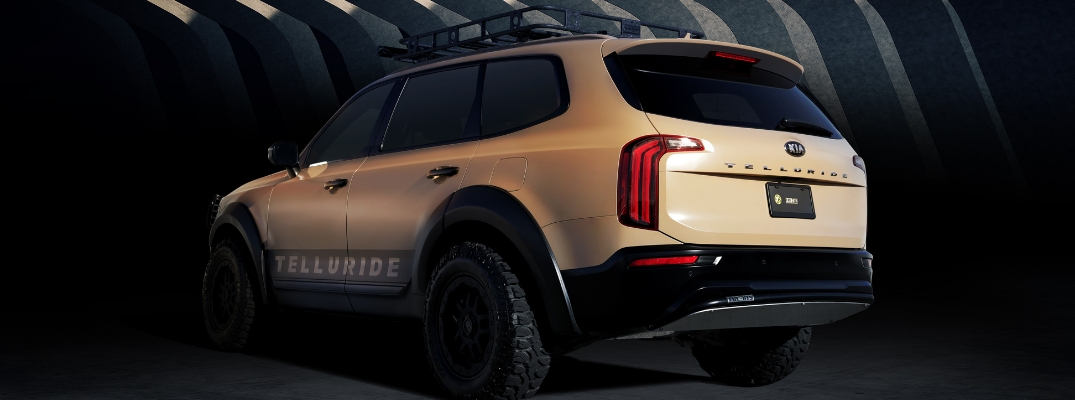 2020 Kia Telluride Rear View of Desert Drifter Model