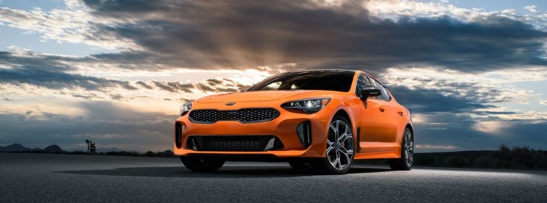 Orange Kia Stinger GTS