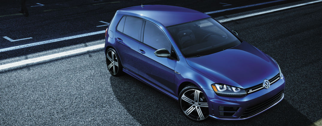 New Volkswagen Models Near Quantico VA at Karen Radley Volkswagen-Woodbridge VA-Northern Virginia-Blue 2016 Volkswagen Golf R at the Track