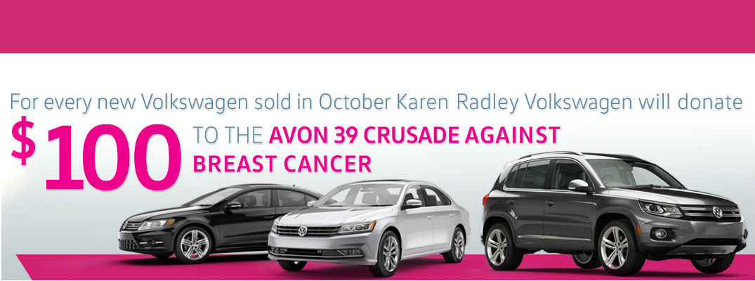 Karen Radley Volkswagen partners with Avon Breast Cancer Crusade