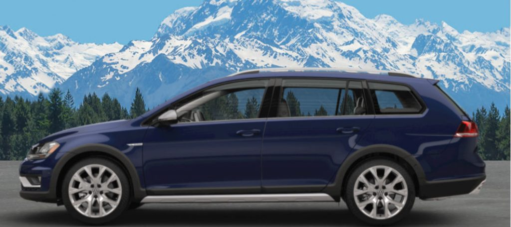 vw golf alltrack  silk blue metallic karen radley volkswagen