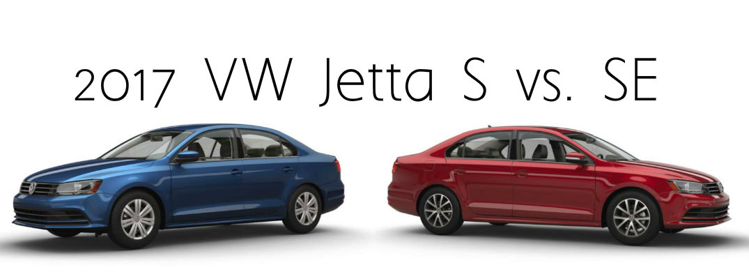 2017 VW Jetta S vs. SE specs