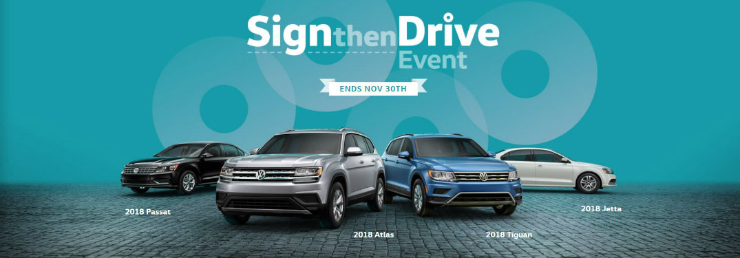 2017 Volkswagen Sign then Drive banner