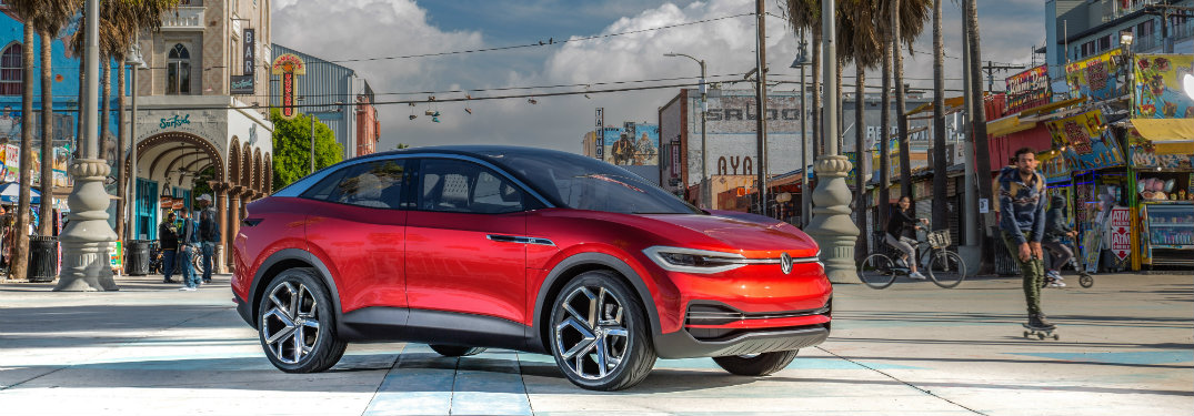 Concept photo of a red Volkswagen I.D. CROZZ