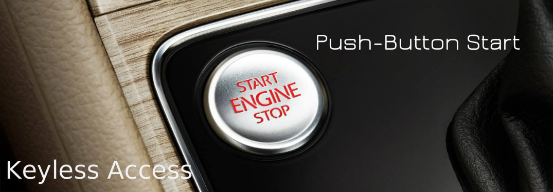 Which VW models have keyless entry and push-button start?