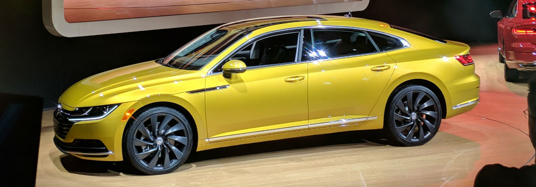Side profile of the 2019 VW Arteon