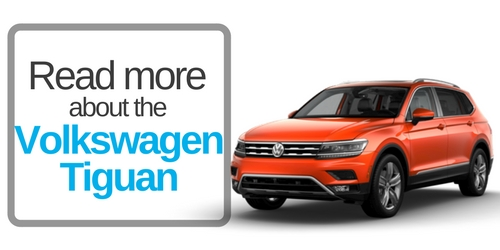 button that says click here to read more about the vw tiguan