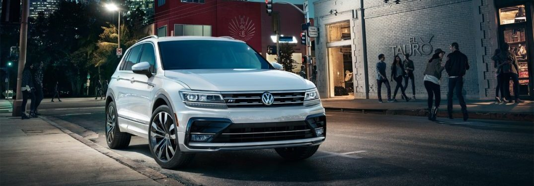2019 VW Tiguan parked on city street