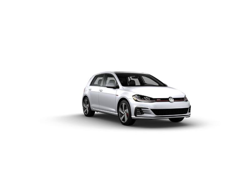 2019 Volkswagen Golf GTI White Silver Metallic