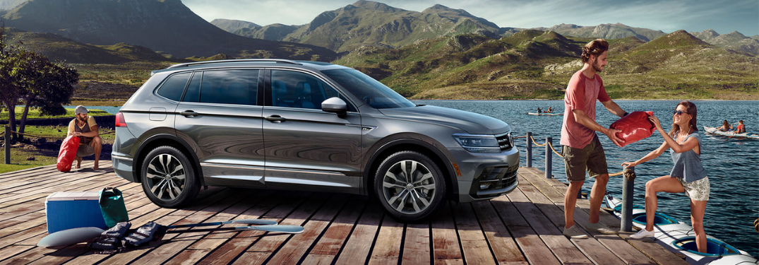 2019 vw tiguan on dock on lake