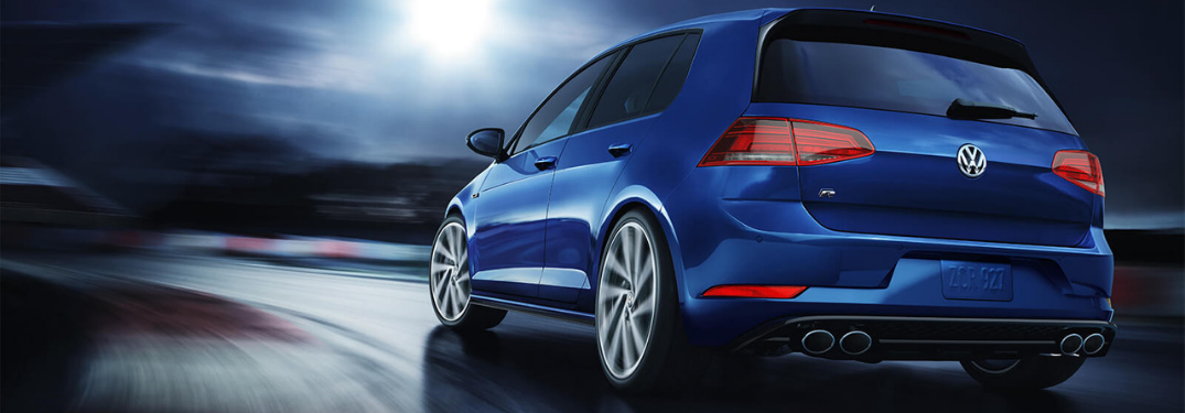 exterior rear of the 2019 golf r