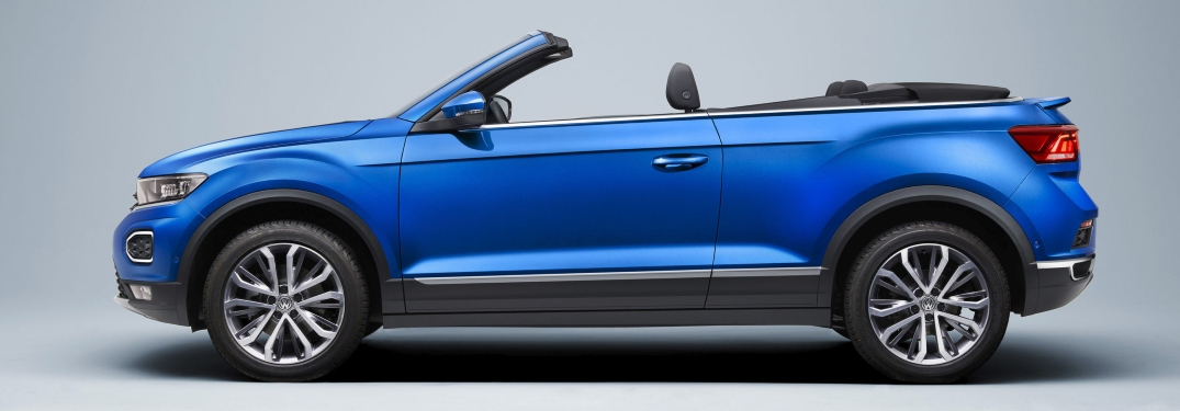 2020 VW T-Roc Convertible exterior side view