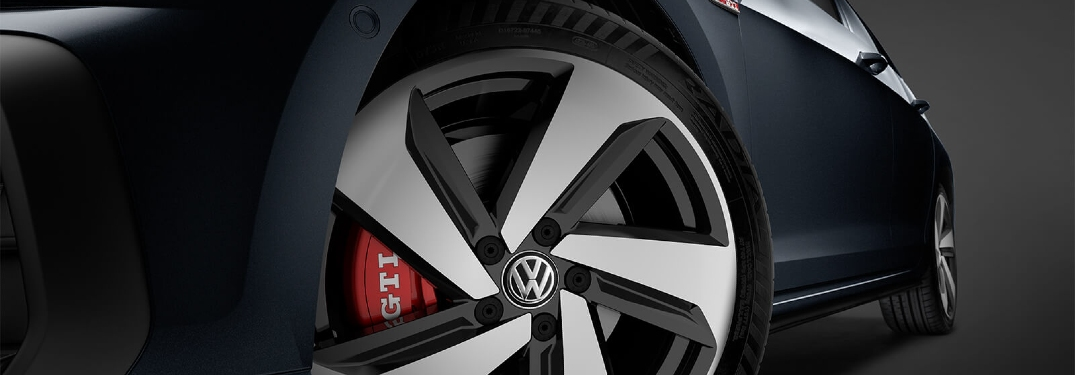 2019 Golf GTI wheel and caliper close up