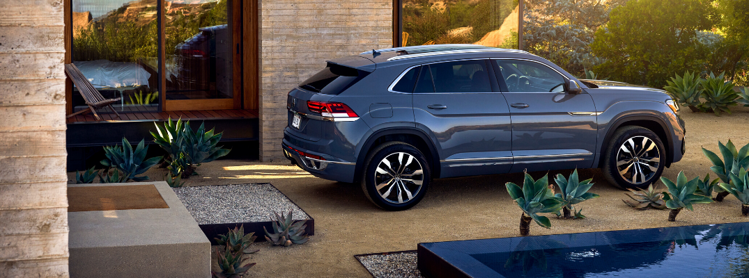 2020 VW Atlas Cross Sport parked outside house