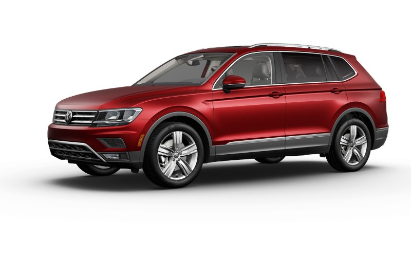 2020 VW Tiguan in Cardinal Red Metallic