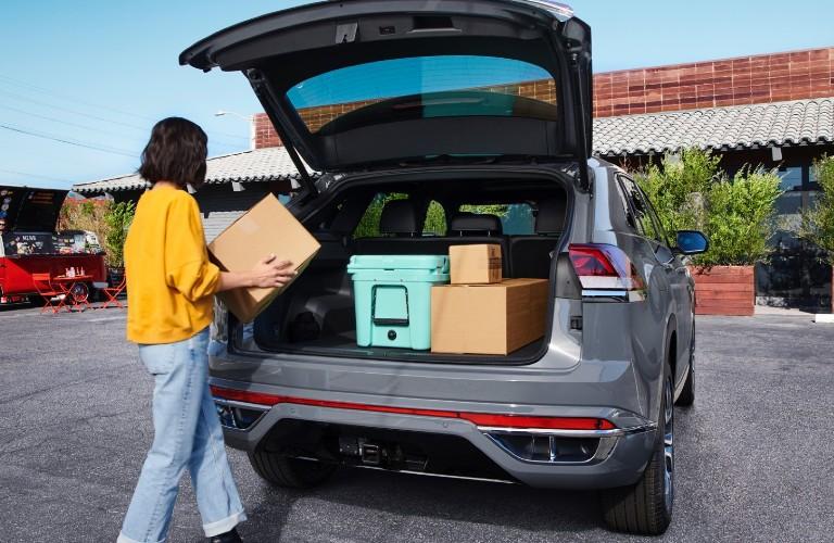 020 Volkswagen Atlas Cross Sport rear cargo area
