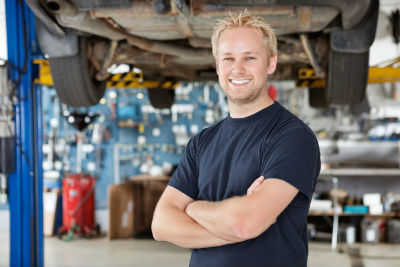 Auto Mechanic standing with arms crossed