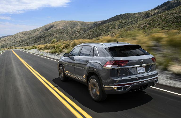 2020 Volkswagen Atlas Cross Sport driving on a road