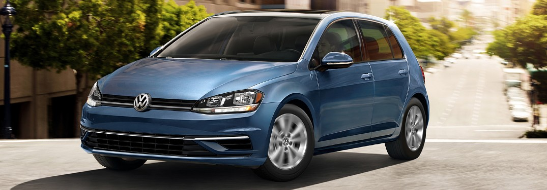 2020 Volkswagen Golf driving on a road