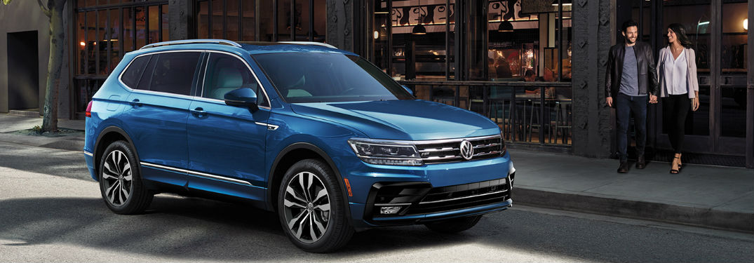 2020 Volkswagen Tiguan front and side profile
