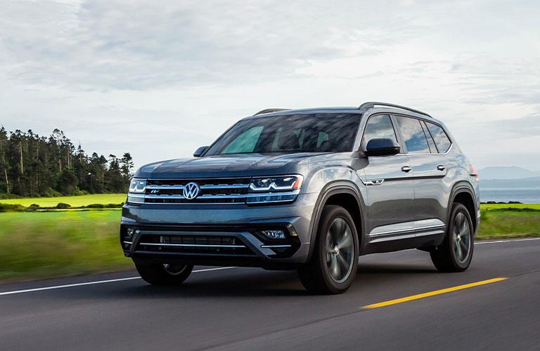 Volkswagen Atlas driving on a road