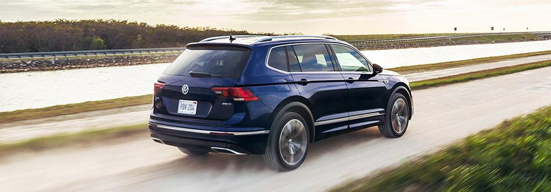 2021 Volkswagen Tiguan driving on a dirt road