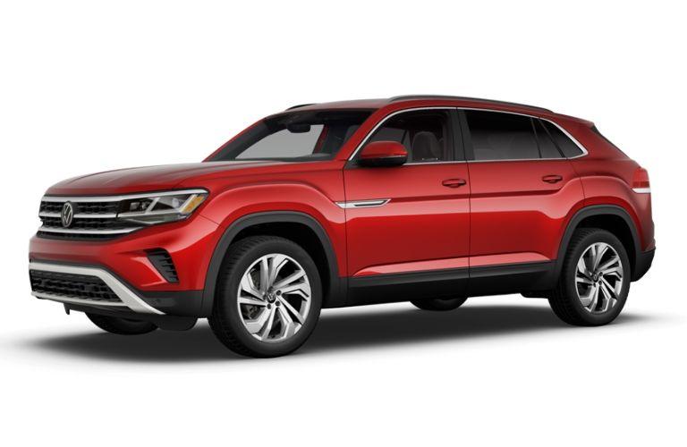 2021 Volkswagen Atlas Cross Sport Aurora Red Metallic
