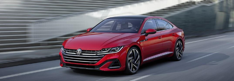 2021 Volkswagen Arteon driving on a road