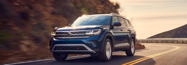 2021 Volkswagen Atlas driving on a road