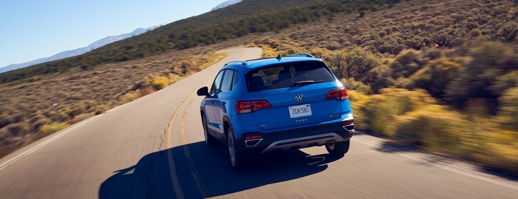rear view of the 2022 VW Taos