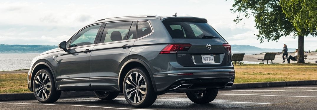rear and side view of the 2022 VW Tiguan