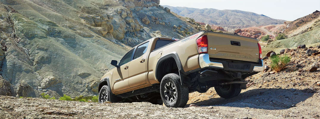 2017 Toyota Tacoma Going Down Hill Using Crawl Control Exterior View in Brown