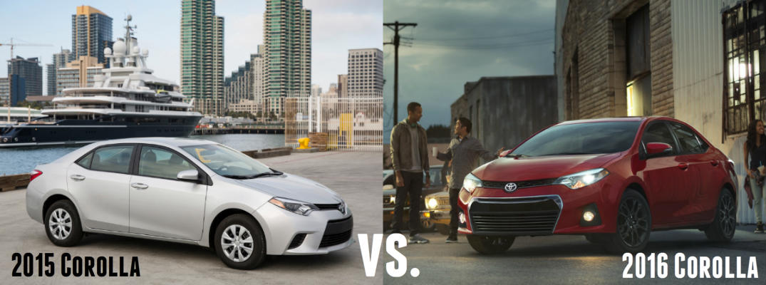 2016 vs 2015 Toyota Corolla Comparison