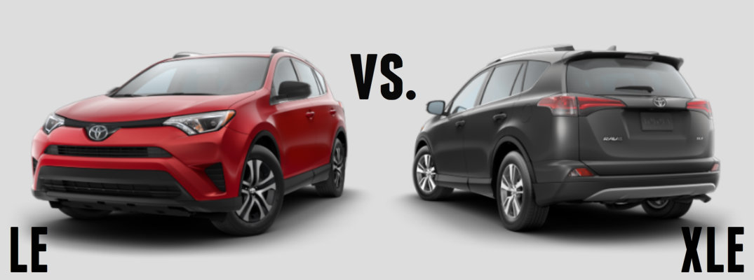 2016 toyota rav4 le vs xle. Black Bedroom Furniture Sets. Home Design Ideas