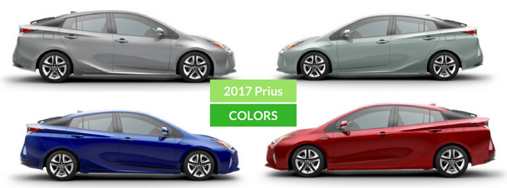 2016 Camry Colors >> 2017 Toyota Prius Exterior Colors and Accessories