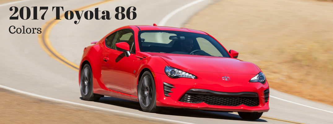 2017 Toyota 86 Exterior Colors and Accessories