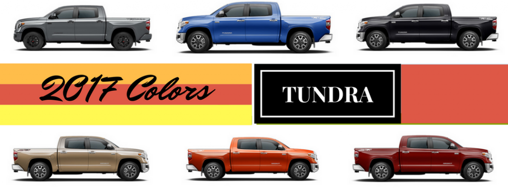 2017 Toyota Highlander Colors >> 2017 Toyota Tundra Exterior Colors and Accessories