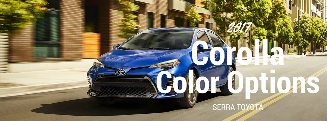 2017 Toyota Corolla Color Options and Trims
