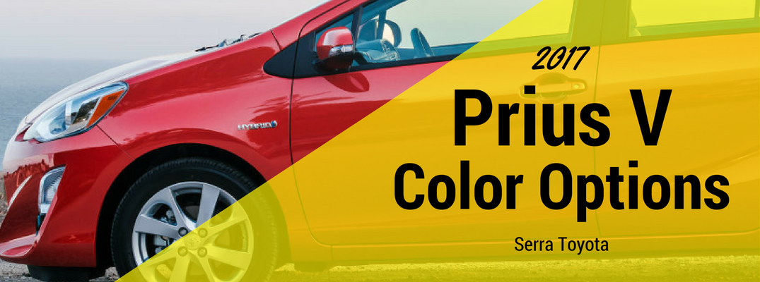 2017 Toyota Prius V Color Options and Trims
