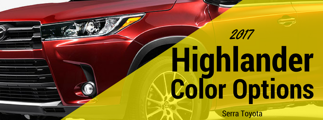 2017 Toyota Highlander Exterior Colors and Trims