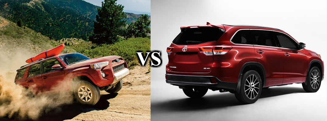 2017 Toyota Highlander vs 2017 Toyota 4Runner