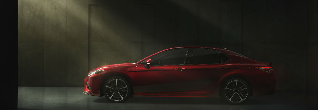 2018 Toyota Camry Exterior Side View in Red